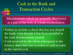 cash in the bank and transaction cycles2