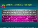 tests of interbank transfers1