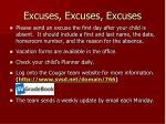 excuses excuses excuses