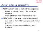 a short historical perspective