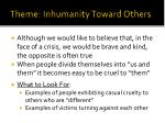 theme inhumanity toward others