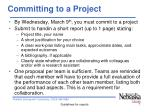 committing to a project