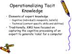 operationalizing tacit knowledge2