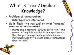 what is tacit implicit knowledge1