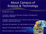 about campus of science technology