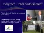 berytech intel endorsement
