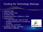 funding for technology startups