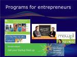 programs for entrepreneurs