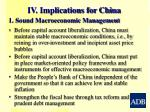 iv implications for china