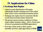 iv implications for china2