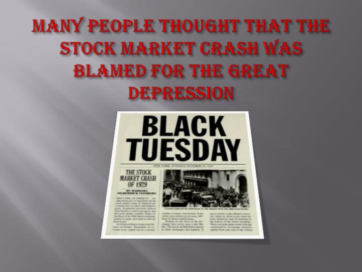 Many people thought that the Stock