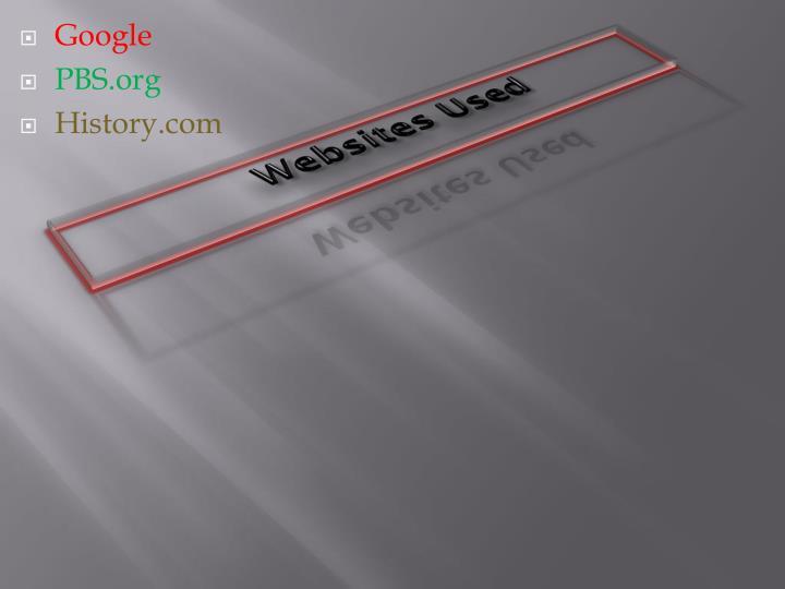 Websites Used