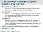 2 second generation daa agents approved by the fda