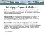 mortgage payment methods