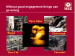 without good engagement things can go wrong1