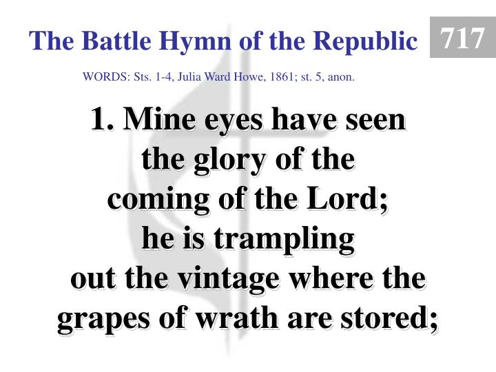 the battle hymn of the republic 1 n.