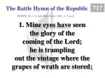 the battle hymn of the republic 1
