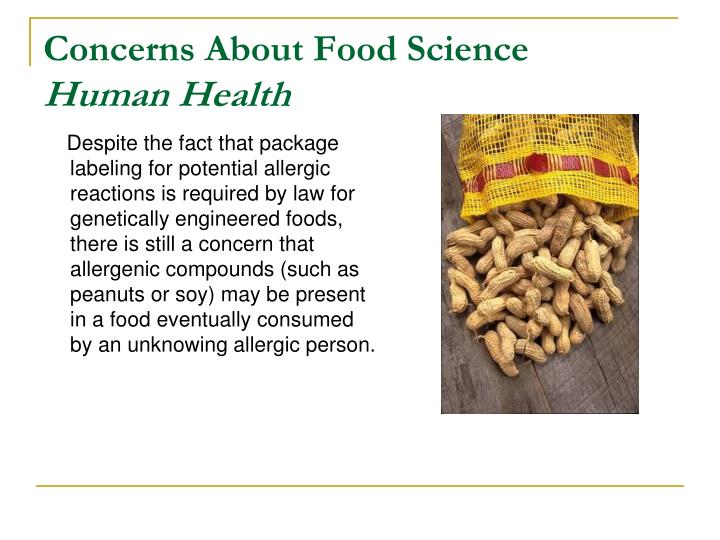 Concerns About Food Science