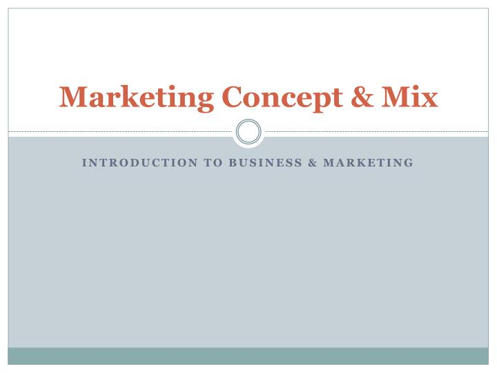 marketing concept mix n.