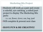 marketing mix project1