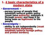 1 4 basic characteristics of a modern state1