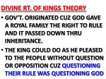 divine rt of kings theory