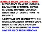 hobbes s social contract theory
