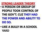 strong leader theory