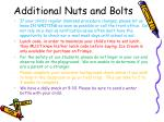 additional nuts and bolts