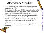 attendance tardies