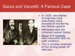 sacco and vanzetti a famous case