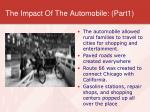 the impact of the automobile part1