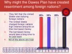 why might the dawes plan have created resentment among foreign nations