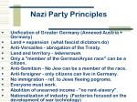 nazi party principles