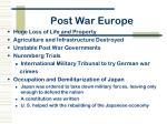 post war europe