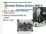 united states enters ww ii