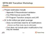 nfpa 805 transition workshop costs