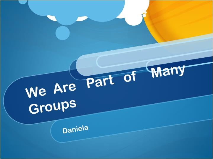 we are part of many groups n.