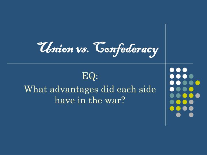 union vs confederacy n.