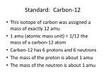 standard carbon 12