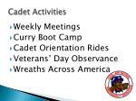 cadet activities