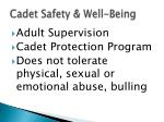 cadet safety well being