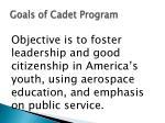 goals of cadet program
