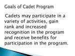 goals of cadet program1