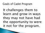 goals of cadet program2