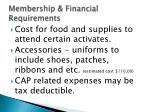 membership financial requirements1