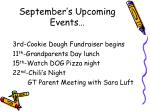 september s upcoming events