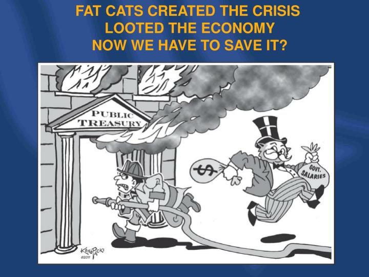 FAT CATS CREATED THE CRISIS