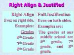 right align justified
