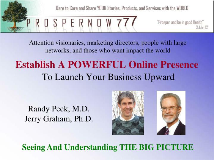 establish a powerful online presence to launch your business upward n.